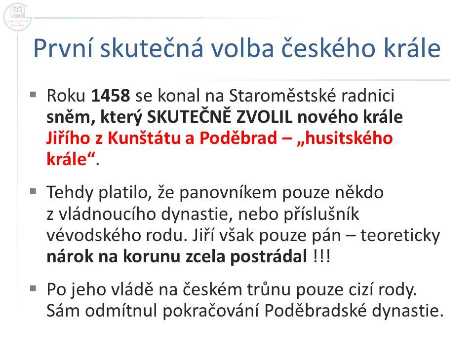 První skutečná volba českého krále