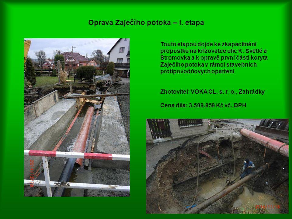 Oprava Zaječího potoka – I. etapa