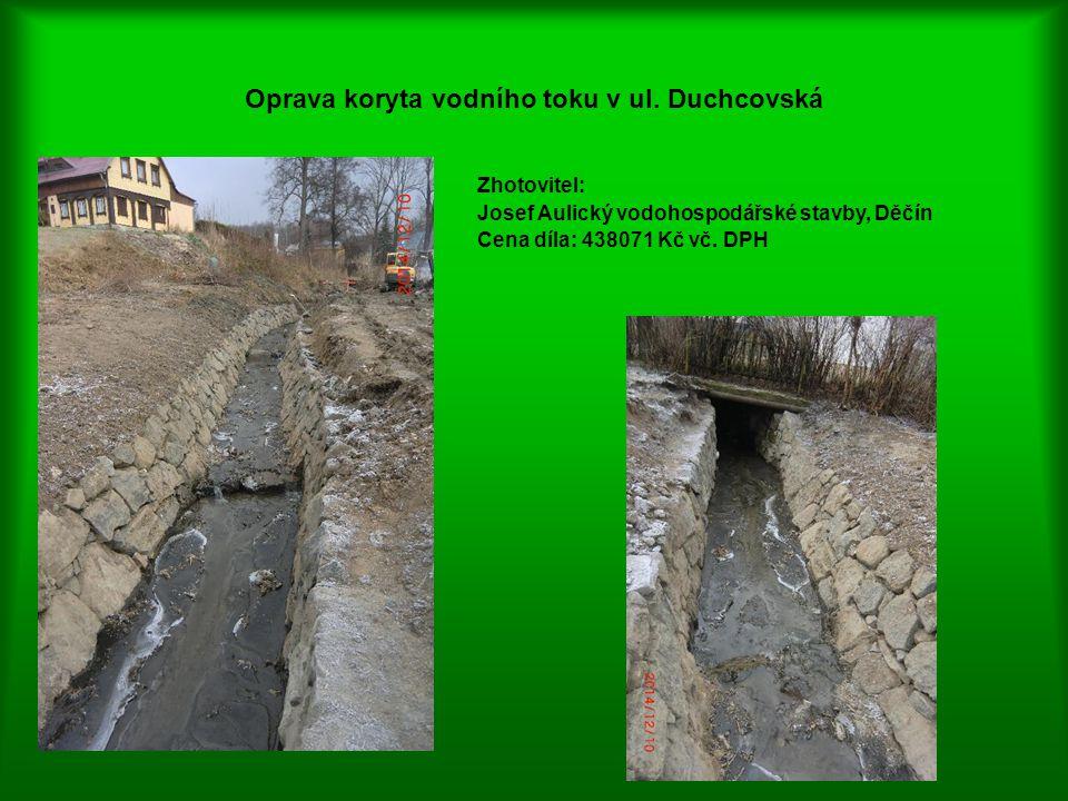 Oprava koryta vodního toku v ul. Duchcovská