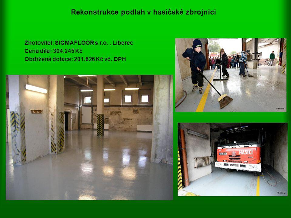 Rekonstrukce podlah v hasičské zbrojnici