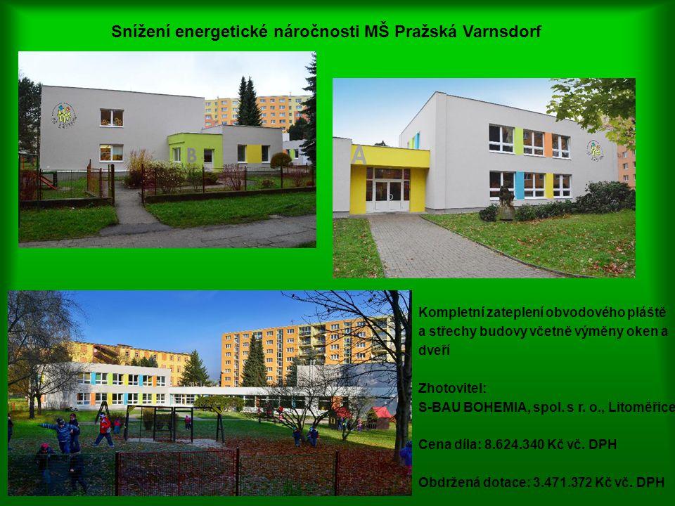 Snížení energetické náročnosti MŠ Pražská Varnsdorf