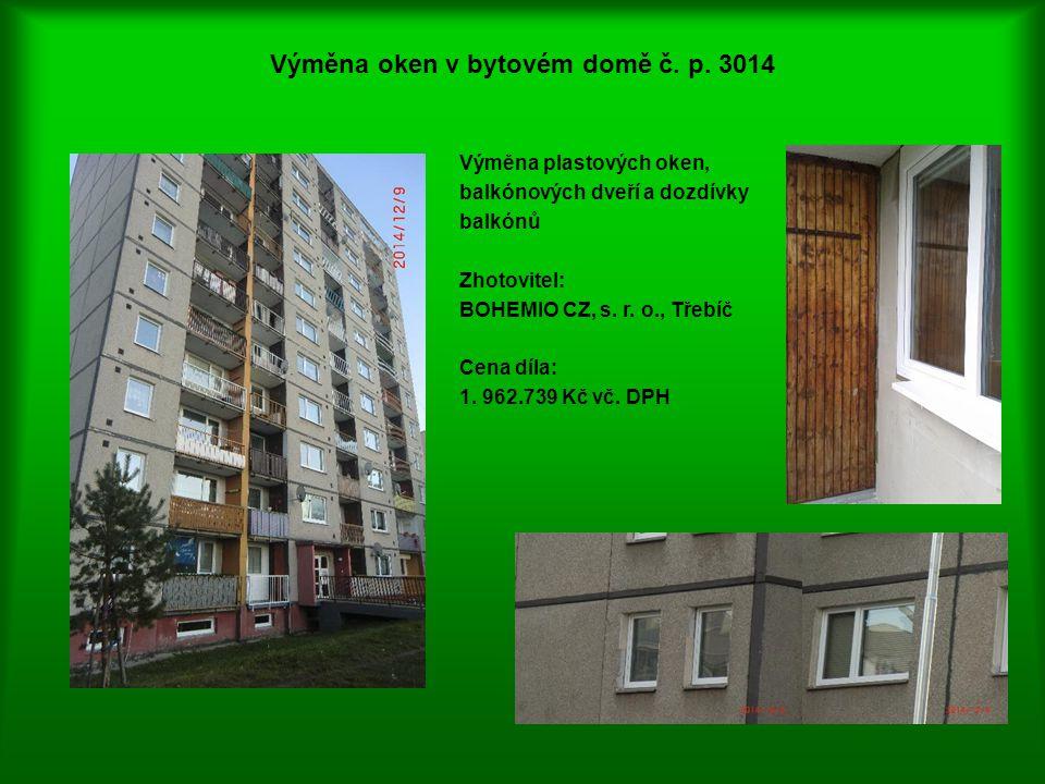 Výměna oken v bytovém domě č. p. 3014