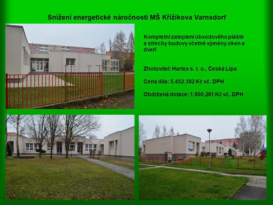 Snížení energetické náročnosti MŠ Křižíkova Varnsdorf