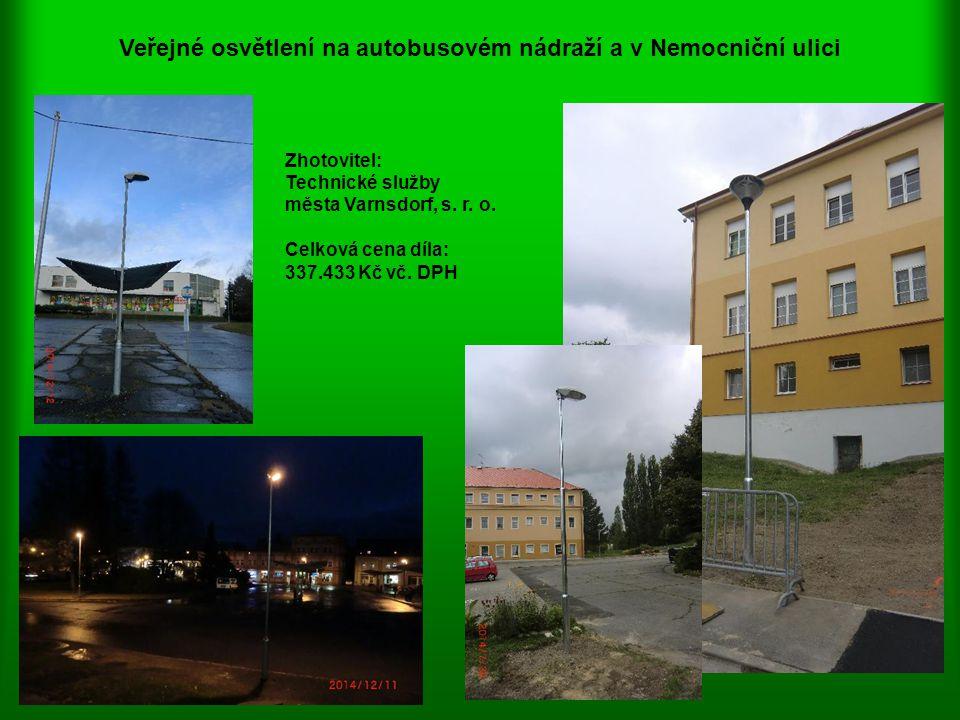 Veřejné osvětlení na autobusovém nádraží a v Nemocniční ulici