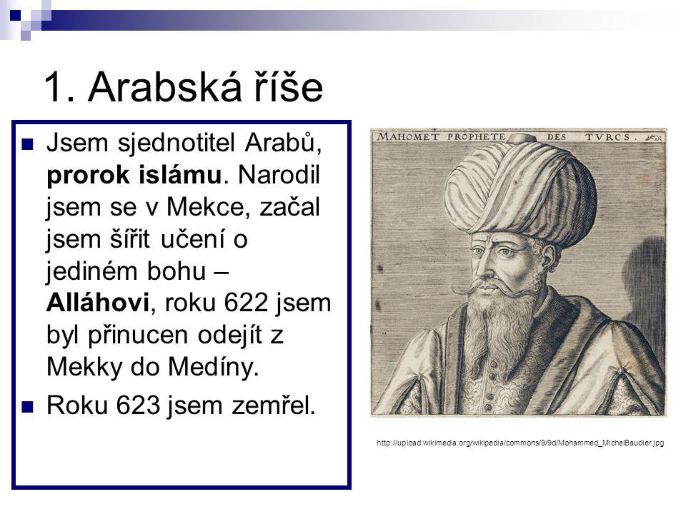 1. Arabská říše