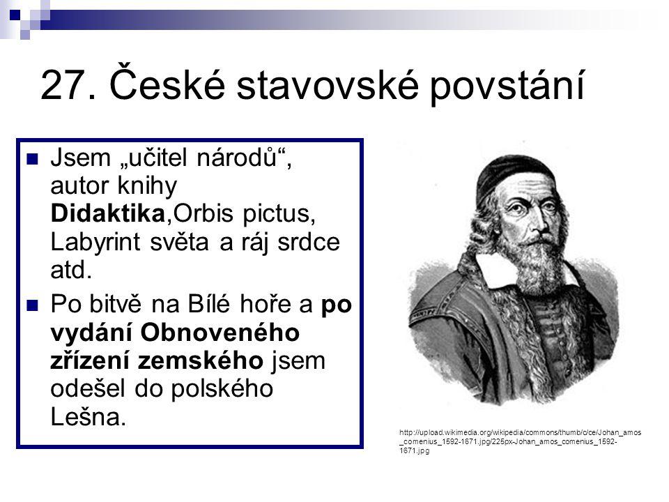 27. České stavovské povstání