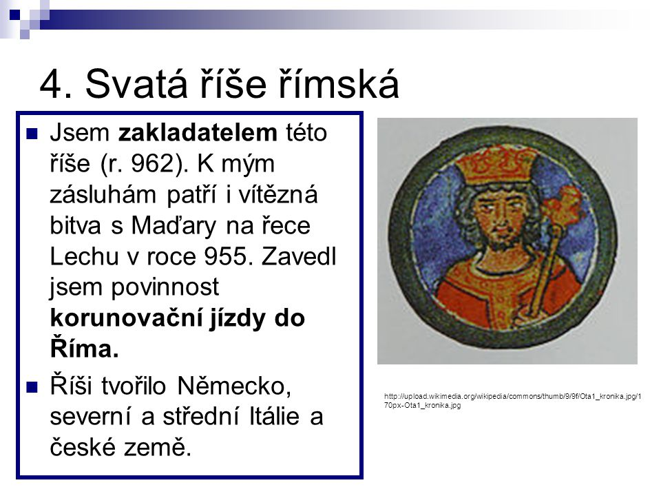 4. Svatá říše římská