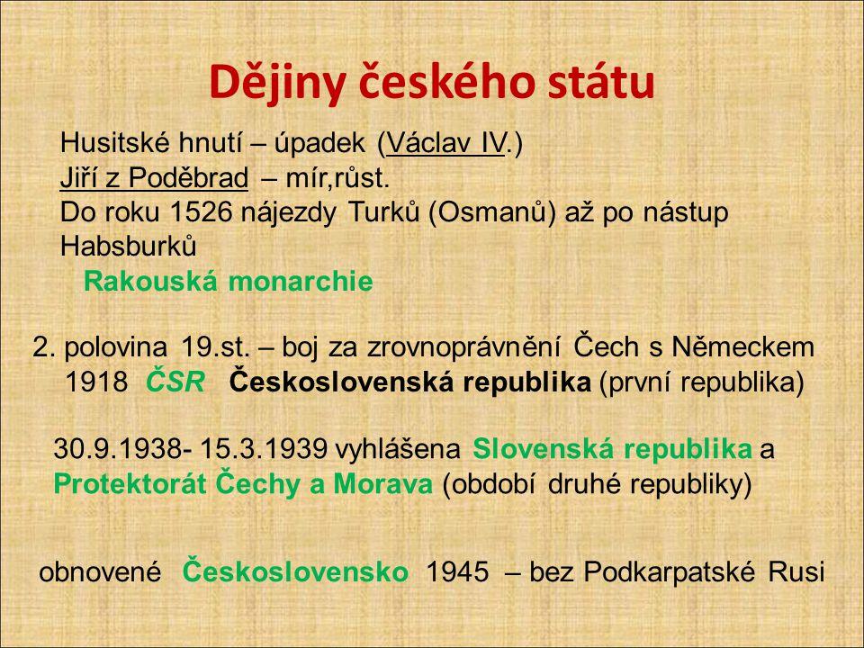 Dějiny českého státu Husitské hnutí – úpadek (Václav IV.)