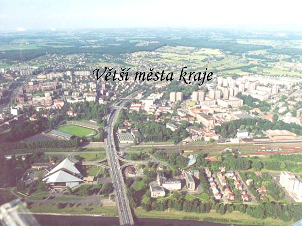 Větší města kraje