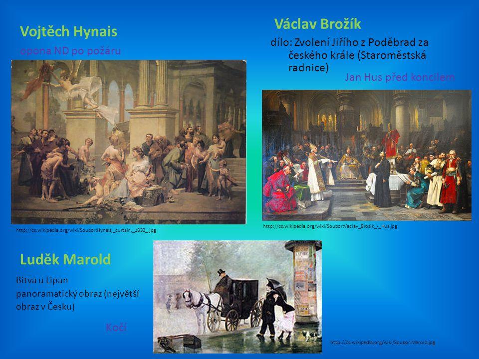 Václav Brožík Vojtěch Hynais Luděk Marold