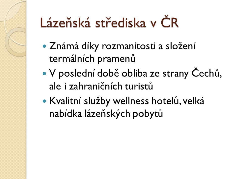 Lázeňská střediska v ČR