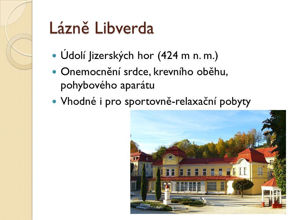 Lázně Libverda Údolí Jizerských hor (424 m n. m.)