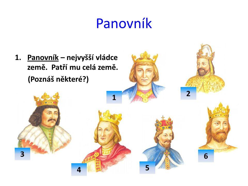Panovník Panovník – nejvyšší vládce země. Patří mu celá země.