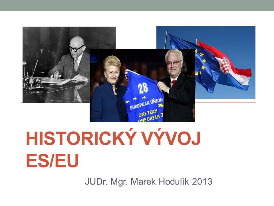Historický vývoj ES/EU