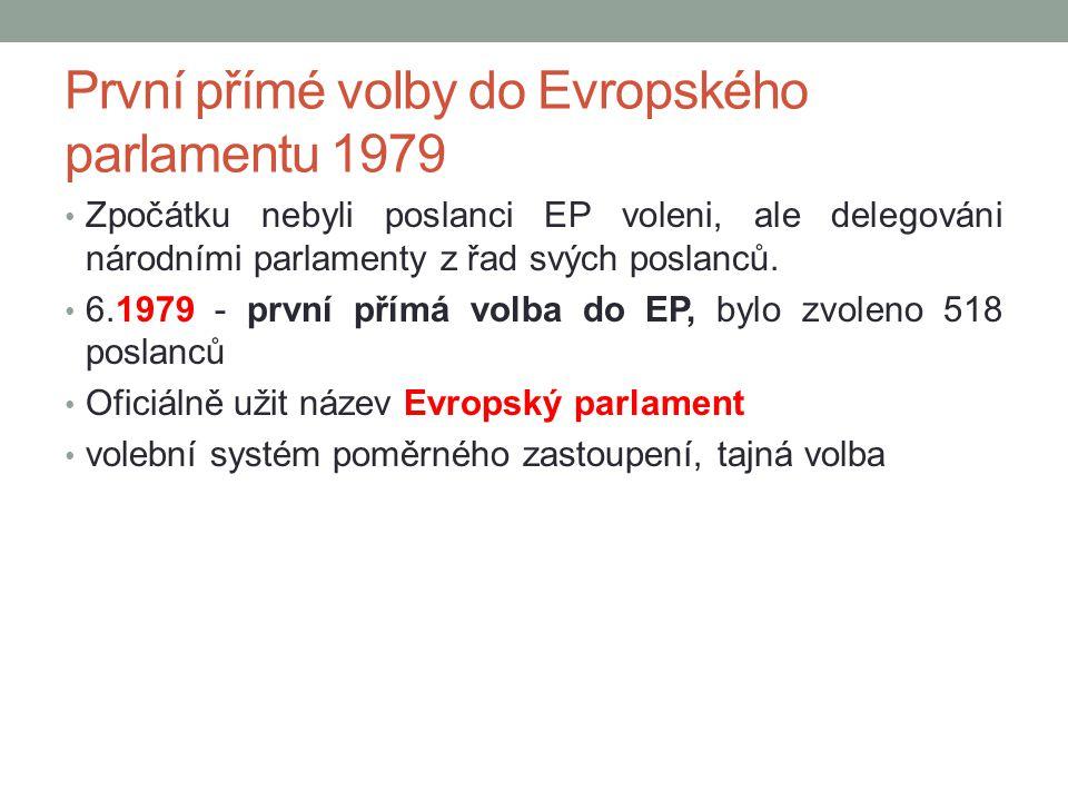 První přímé volby do Evropského parlamentu 1979