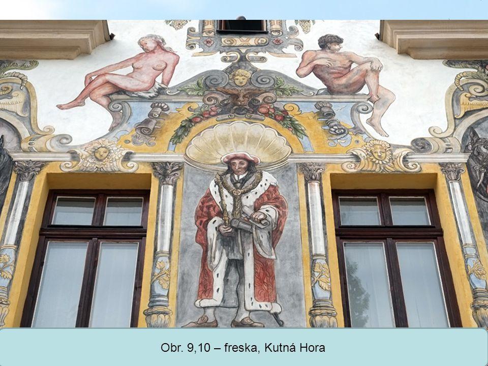 Obr. 9,10 – freska, Kutná Hora