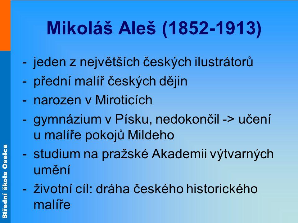 Mikoláš Aleš (1852-1913) jeden z největších českých ilustrátorů