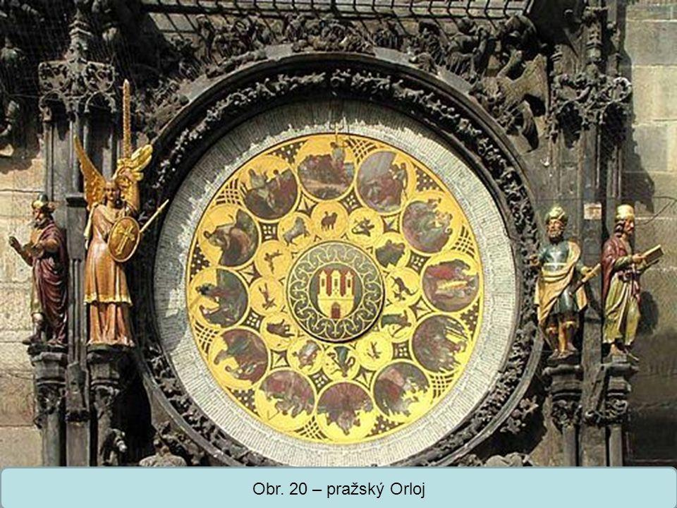 Obr. 20 – pražský Orloj
