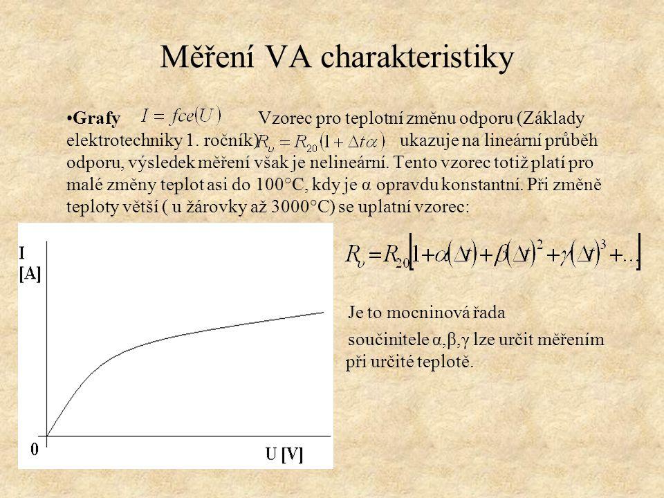 Měření VA charakteristiky