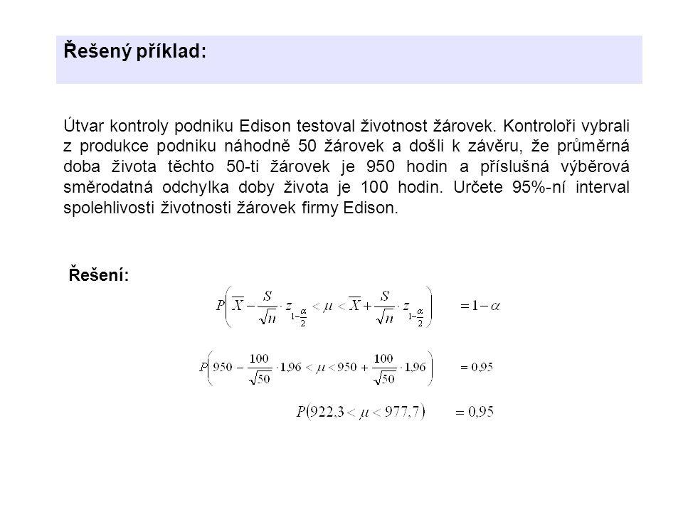 Řešený příklad: Řešení: