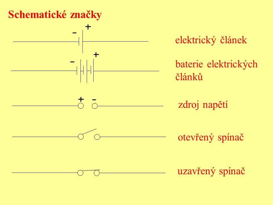 Schematické značky elektrický článek baterie elektrických článků