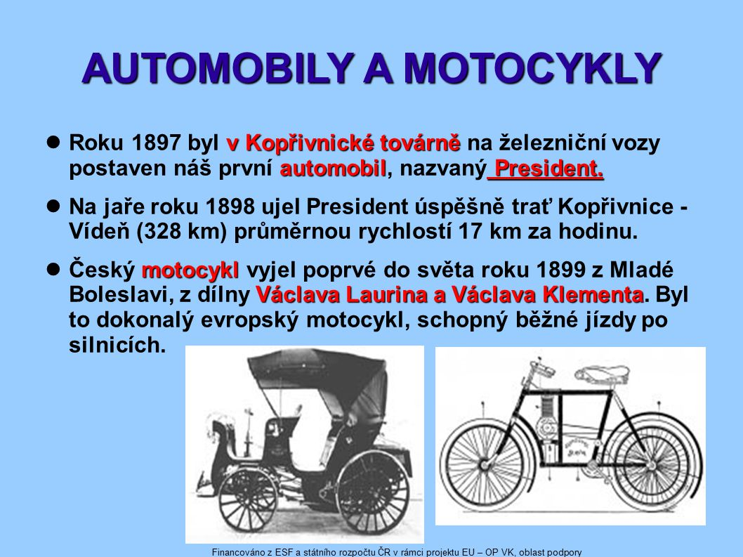 AUTOMOBILY A MOTOCYKLY