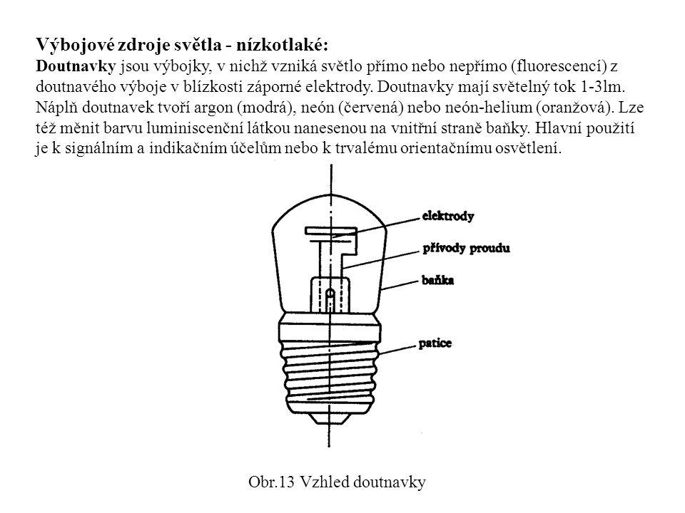 Výbojové zdroje světla - nízkotlaké: