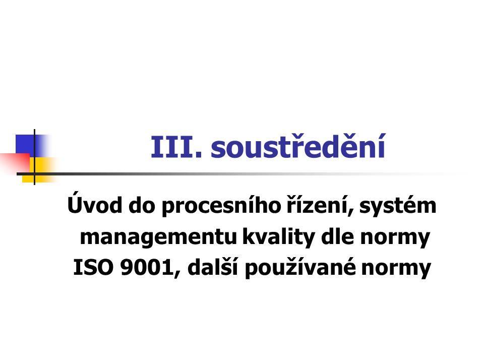 III. soustředění Úvod do procesního řízení, systém