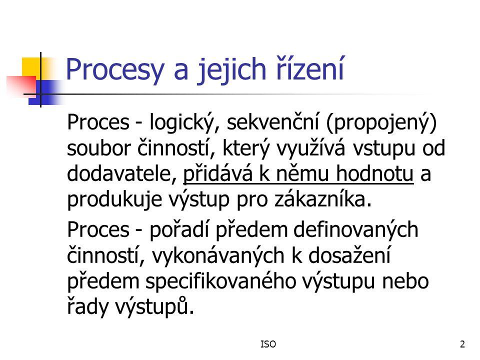 Procesy a jejich řízení