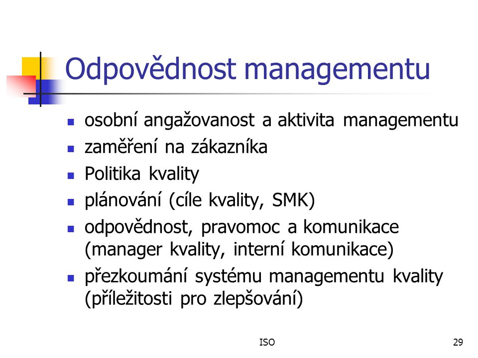 Odpovědnost managementu
