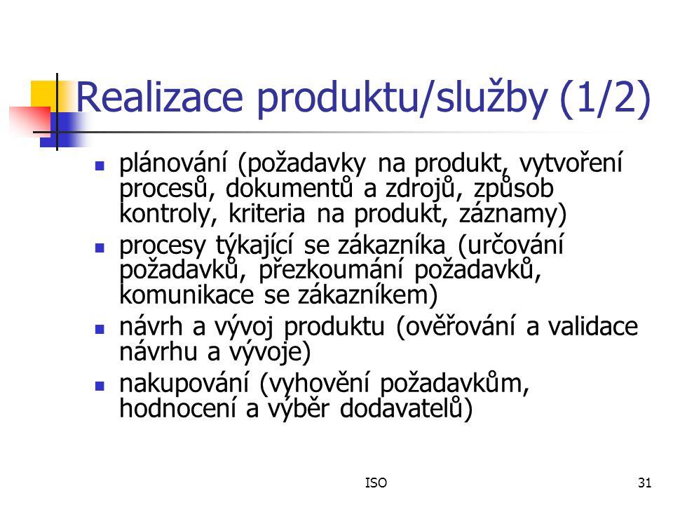 Realizace produktu/služby (1/2)
