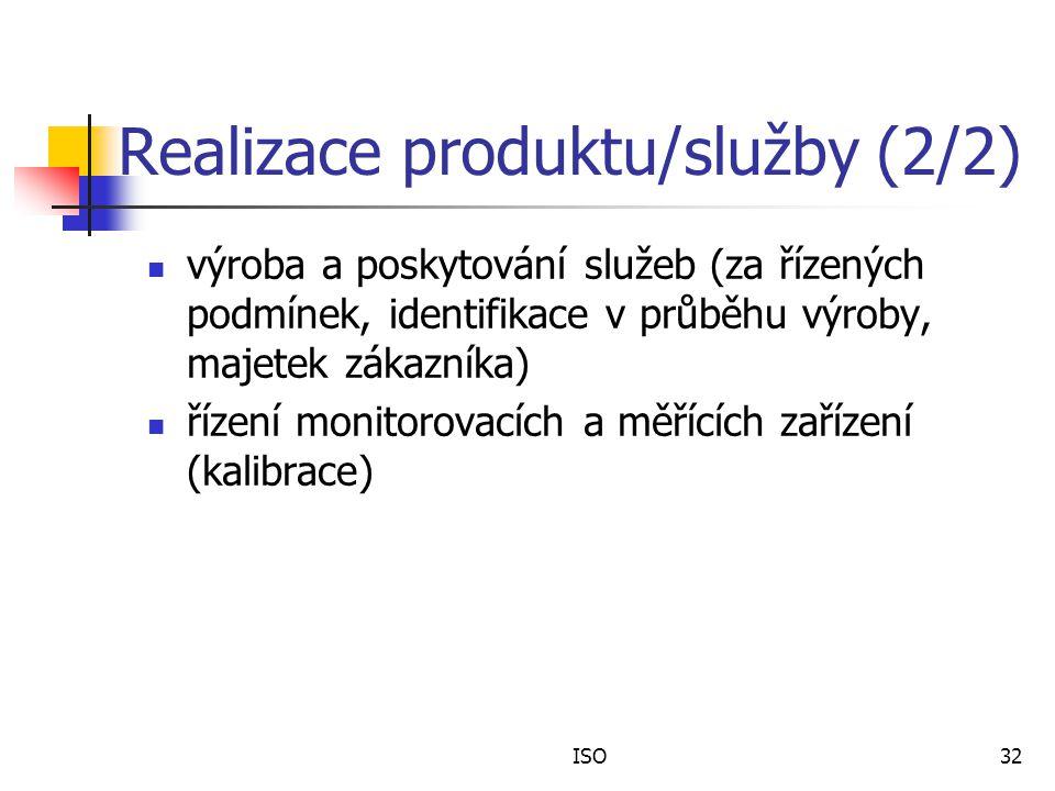Realizace produktu/služby (2/2)
