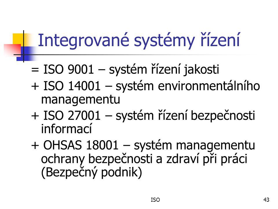 Integrované systémy řízení