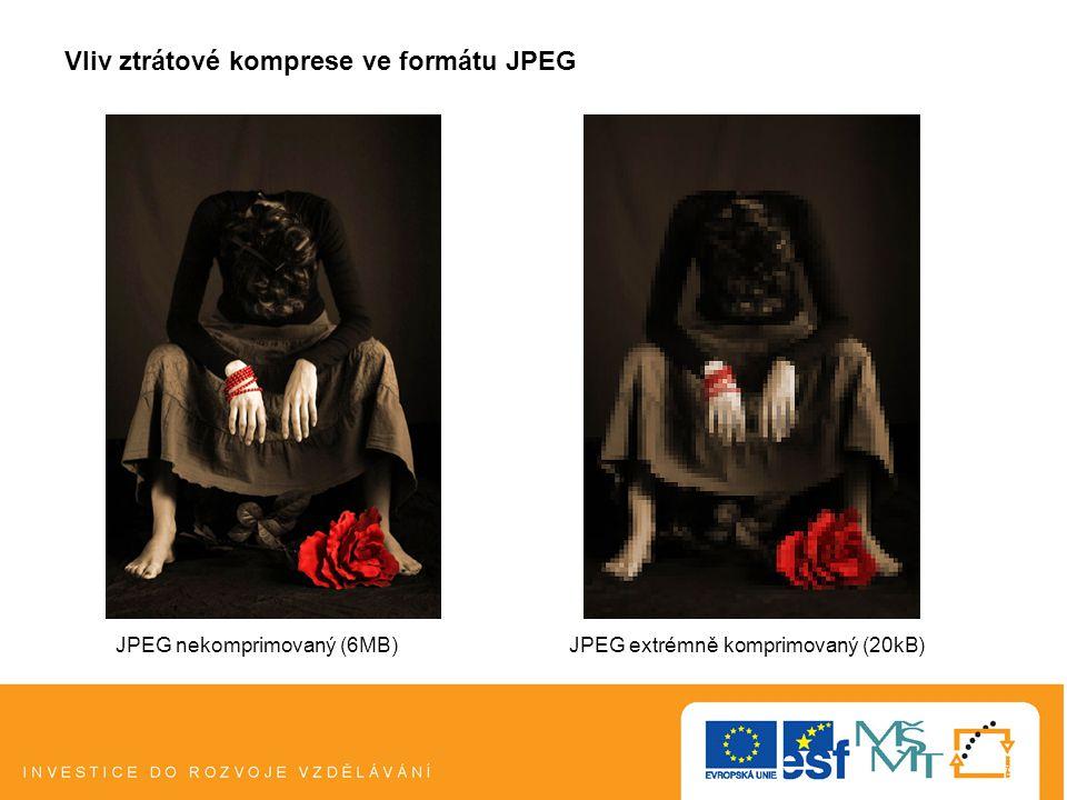 Vliv ztrátové komprese ve formátu JPEG