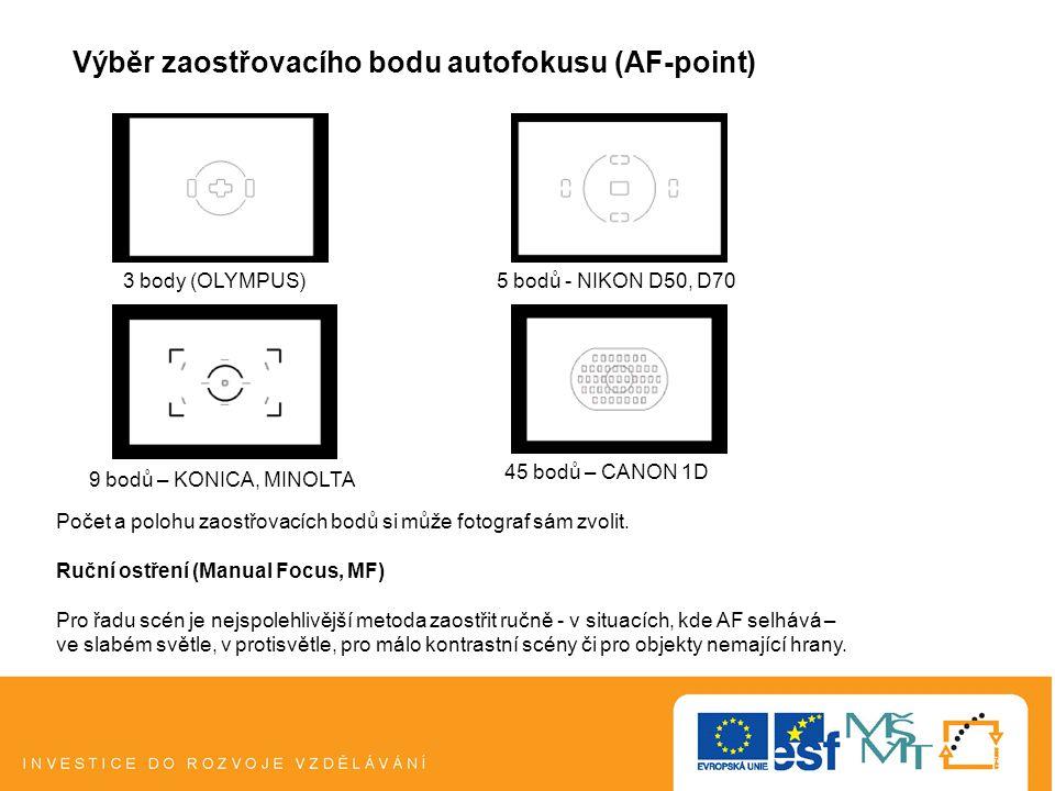 Výběr zaostřovacího bodu autofokusu (AF-point)