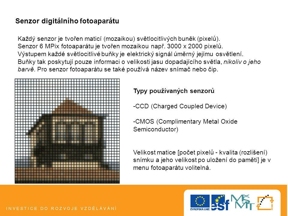 Senzor digitálního fotoaparátu