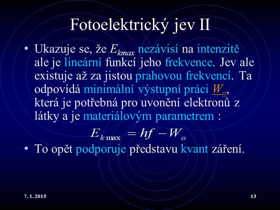 Fotoelektrický jev II