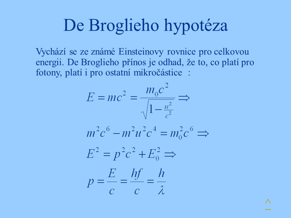 De Broglieho hypotéza ^