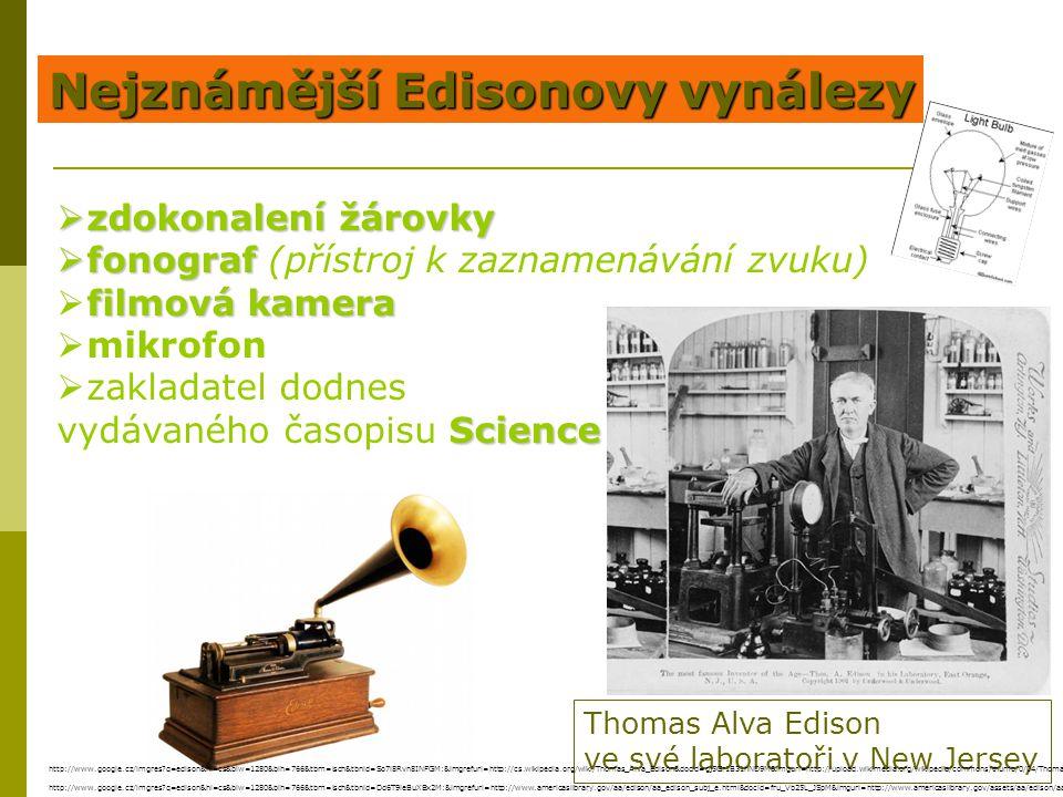 Nejznámější Edisonovy vynálezy