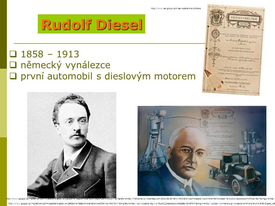 Rudolf Diesel 1858 – 1913 německý vynálezce