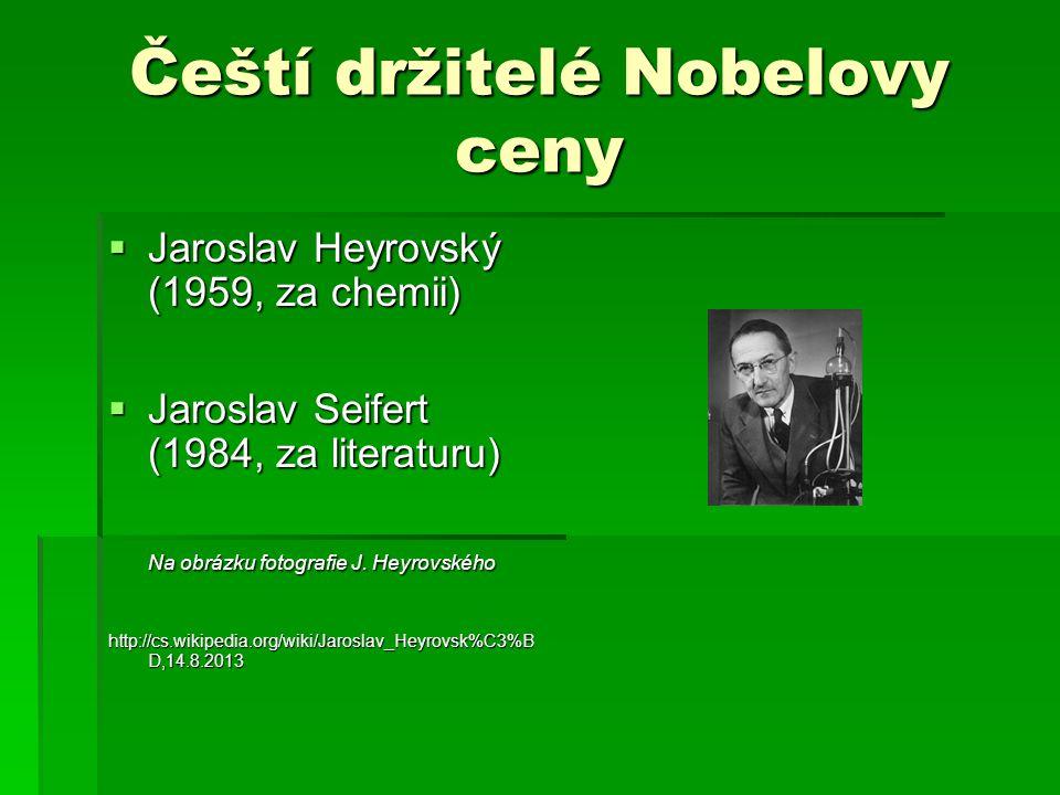 Čeští držitelé Nobelovy ceny