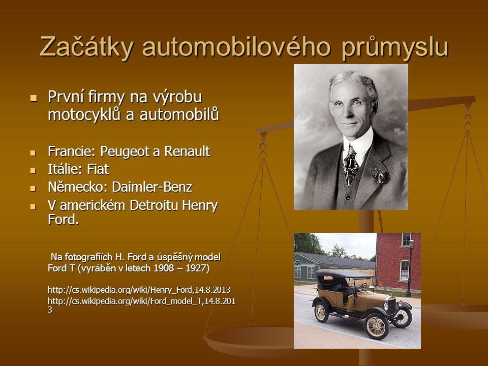 Začátky automobilového průmyslu