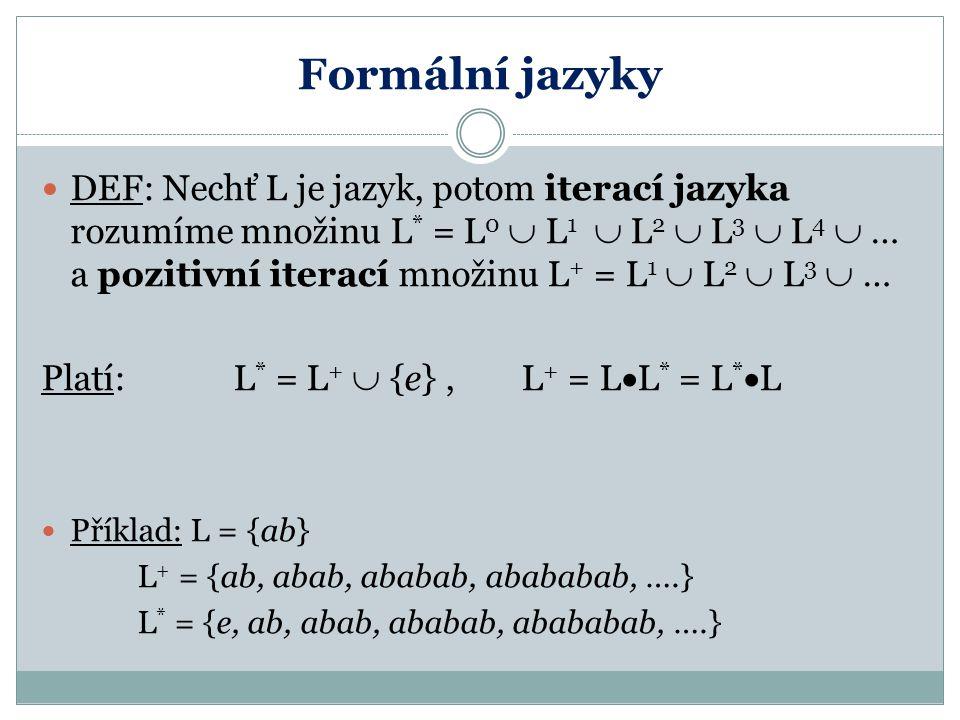 Formální jazyky