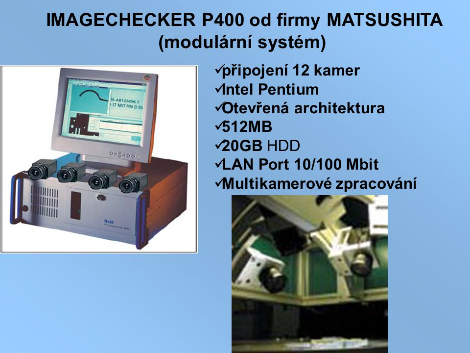 IMAGECHECKER P400 od firmy MATSUSHITA