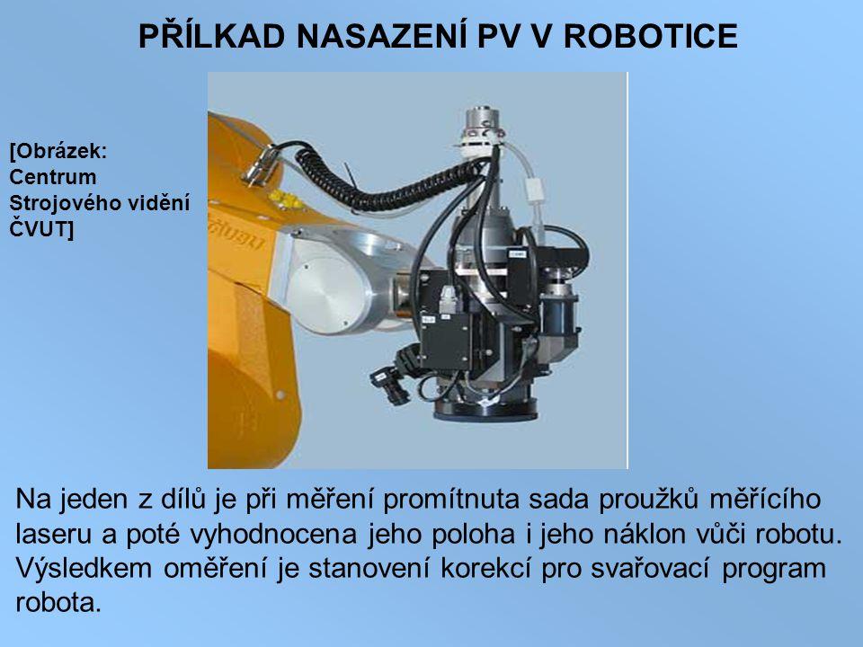 PŘÍLKAD NASAZENÍ PV V ROBOTICE