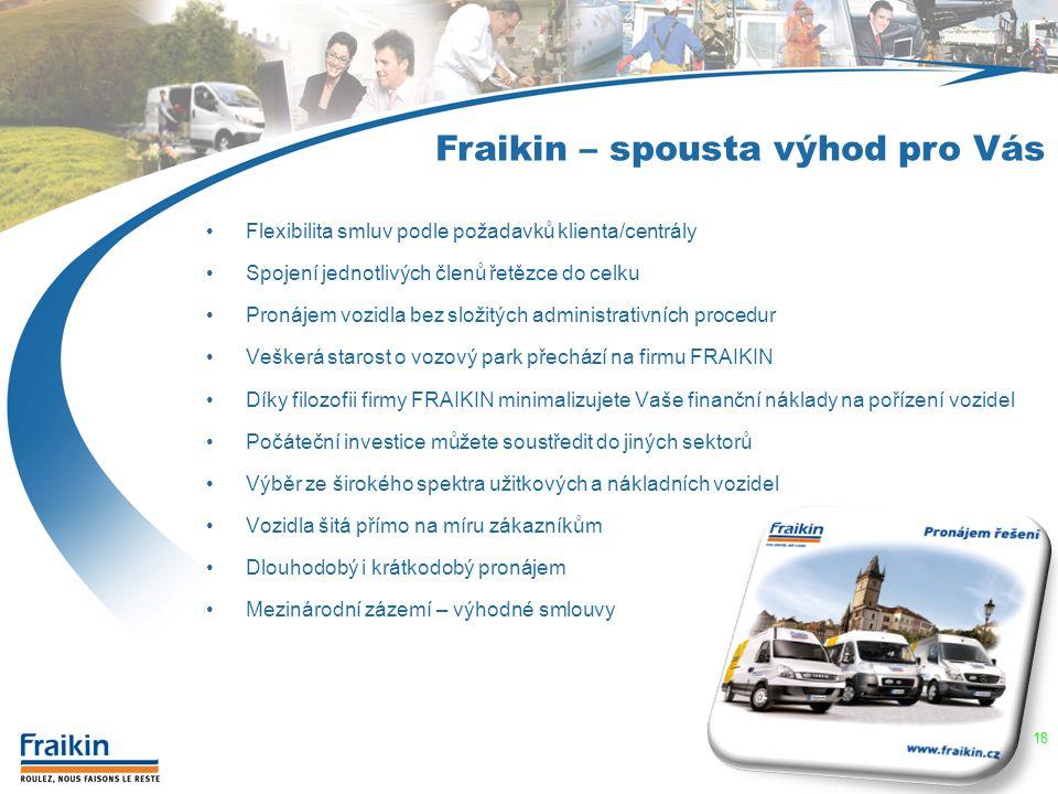 Fraikin – spousta výhod pro Vás