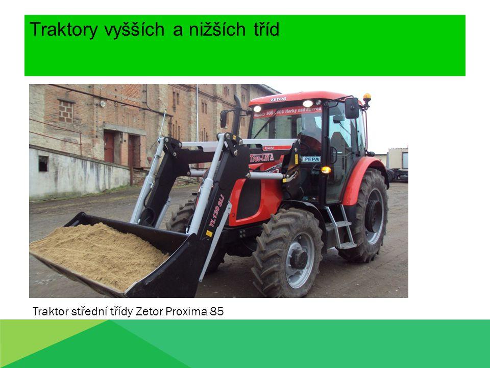 Traktory vyšších a nižších tříd