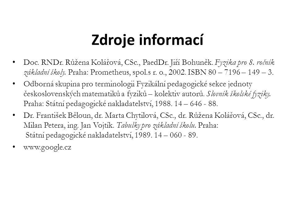 Zdroje informací