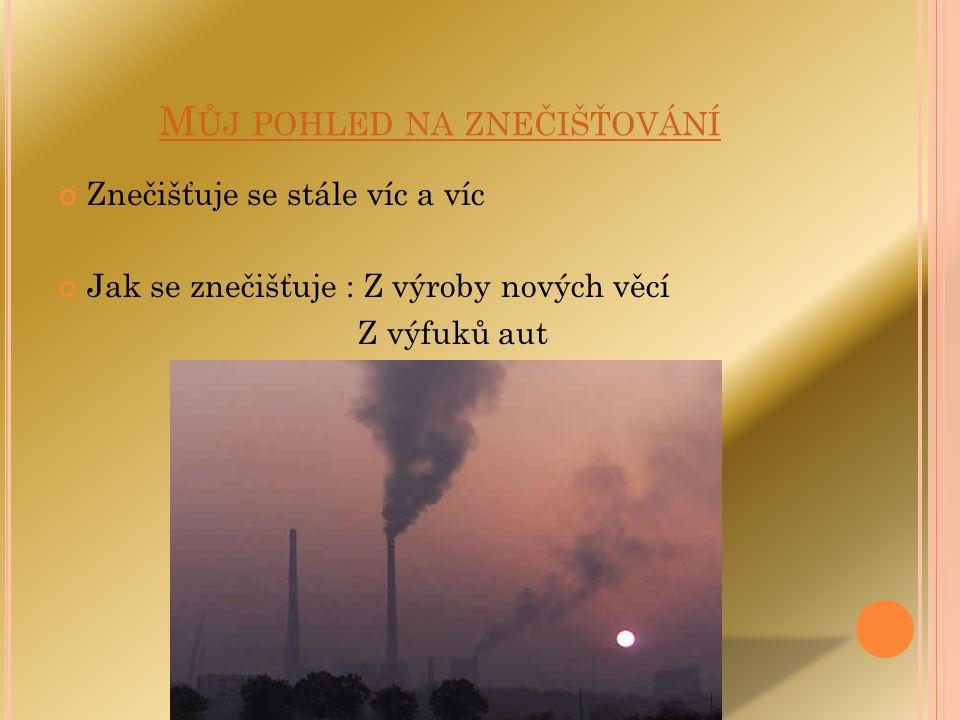 Můj pohled na znečišťování