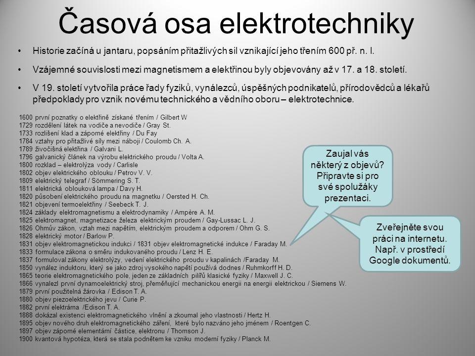 Časová osa elektrotechniky